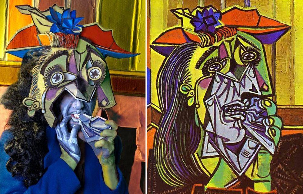 Zoom sur la Femme qui Pleure de Picasso